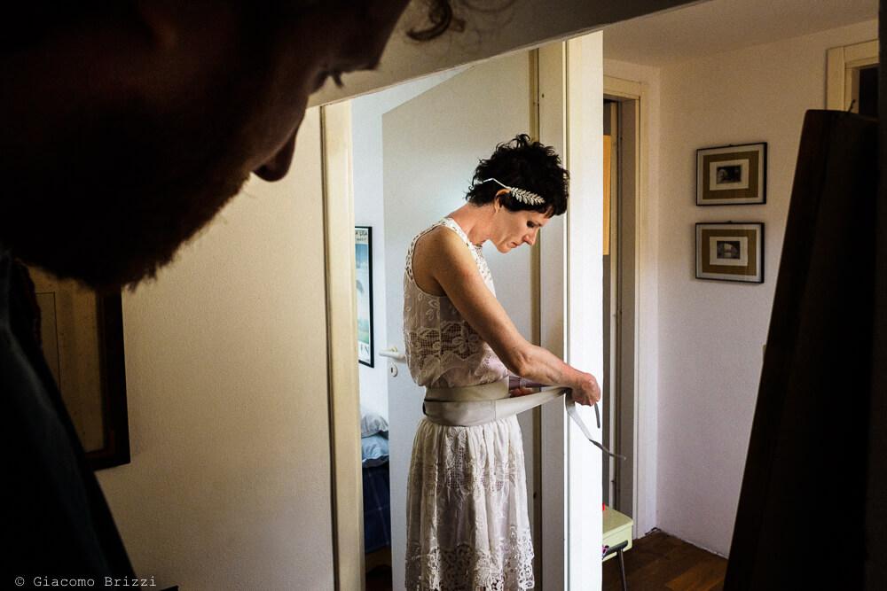 Dettaglio sulla sposa al Matrimonio di Ameglia