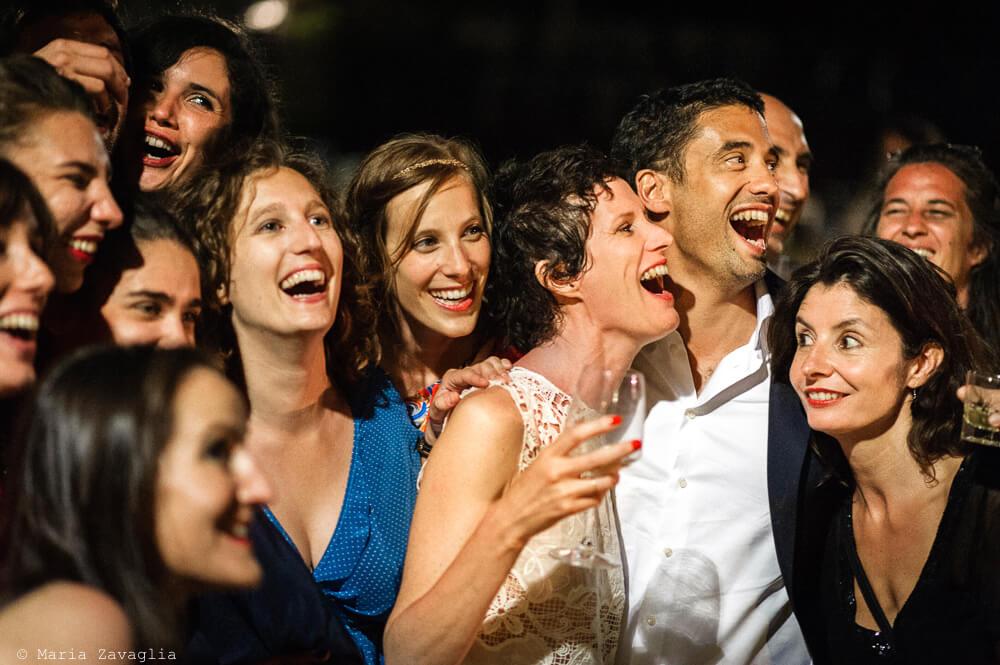 Gli invitati si divertono al Matrimonio di Ameglia