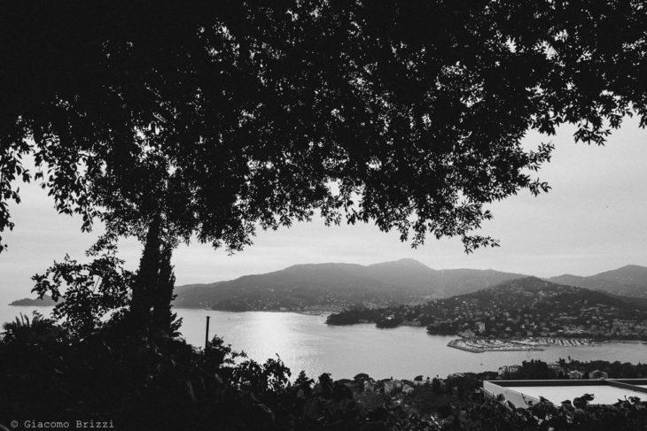 Una foto panoramica del golfo, fotografo matrimonio rapallo, liguria