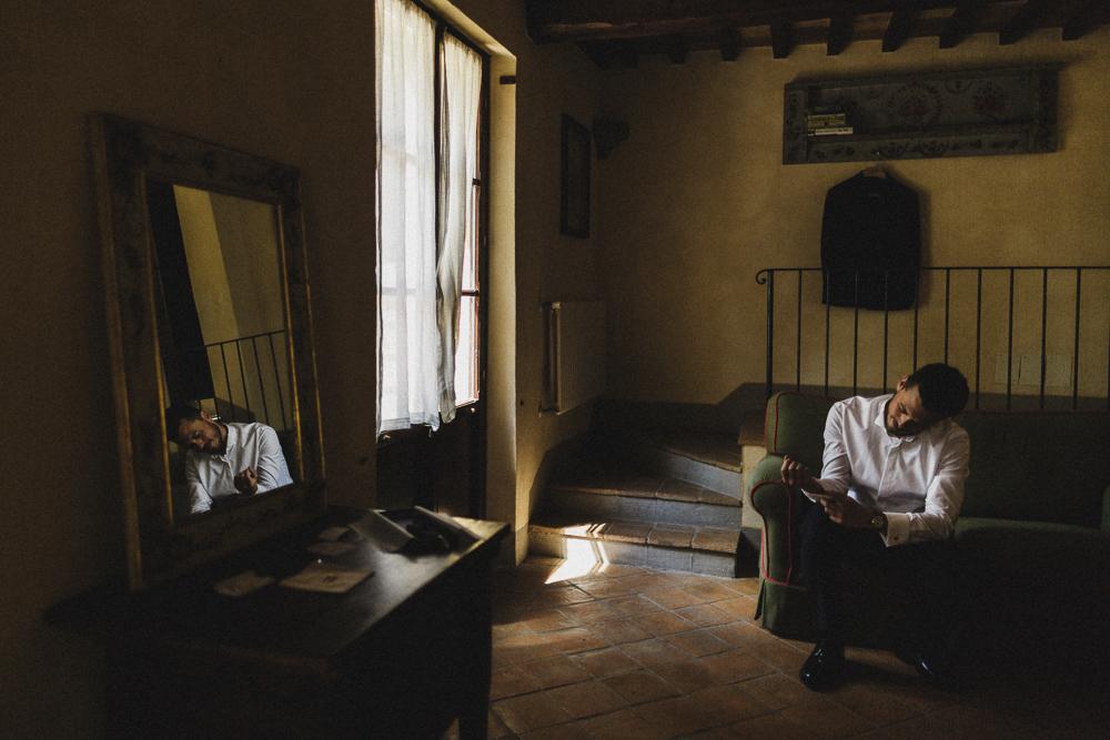 Una vista della stanza preparativi matrimonio ricevimento terre di nano