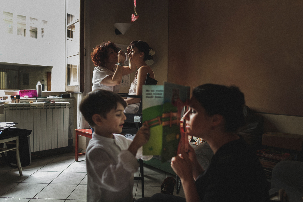 I bambini al trucco, matrimonio Massa Carrara Toscana