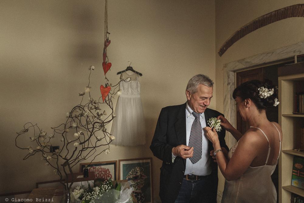 La preparazione delpadre della sposa, matrimonio Massa Carrara Toscana