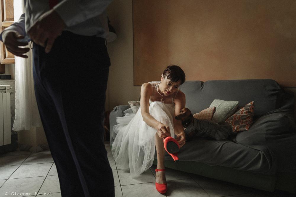 La sposa indossa le scarpe, matrimonio Massa Carrara Toscana